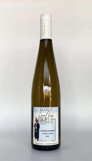 bouteille gewurztraminer veilleur de nuit manala 2018 vin alsace domaine gueth gueberschwihr