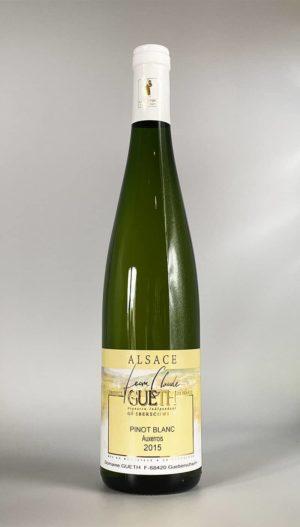 bouteille pinot blanc auxerrois 2015 vin alsace domaine gueth gueberschwihr