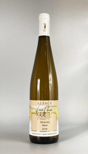 bouteille riesling reserve 2018 vin alsace domaine gueth gueberschwihr