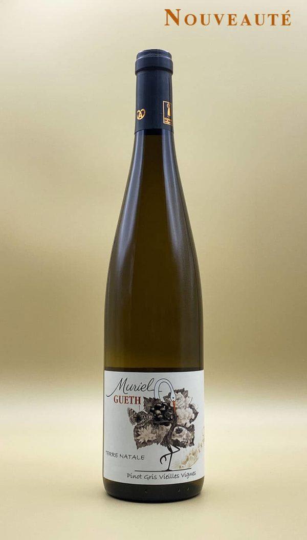 bouteille pinot gris vieilles vignes 2017 vin alsace domaine gueth gueberschwihr