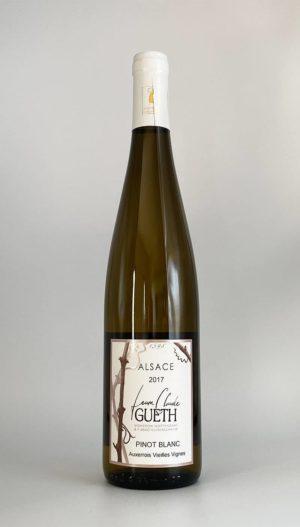 bouteille pinot blanc auxerrois vieilles vignes 2017 vin alsace domaine gueth gueberschwihr