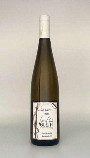 bouteille riesling village 2017 vin alsace domaine gueth gueberschwihr