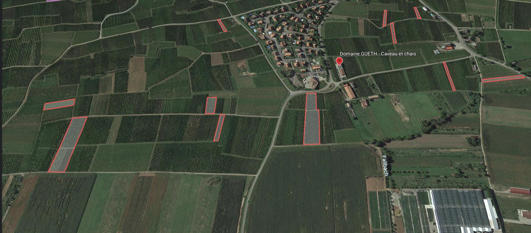 vue aérienne position domaine gueth gueberschwihr