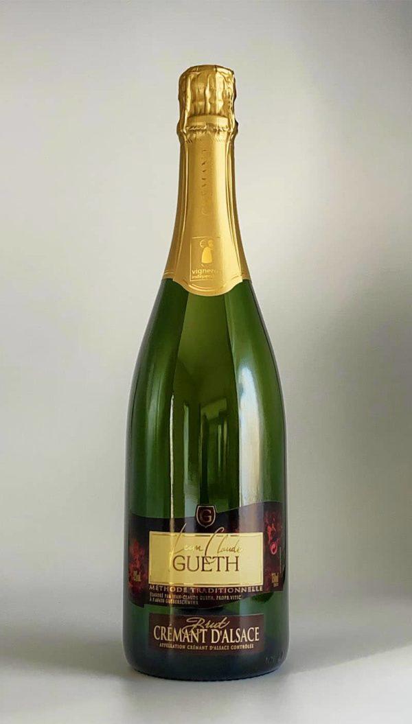 bouteille cremant d'alsace brut blanc vin alsace domaine gueth gueberschwihr