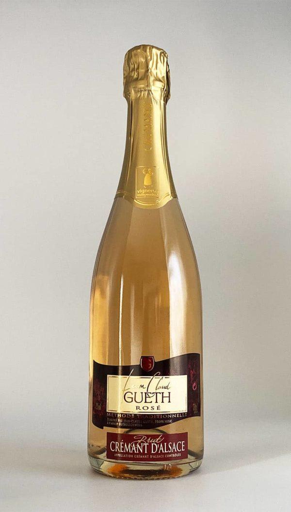 bouteille cremant d'alsace rose brut vin alsace domaine gueth gueberschwihr