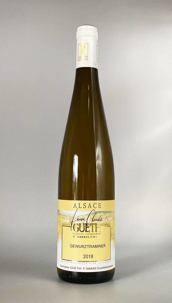 bouteille gewurztraminer 2018 vin alsace domaine gueth gueberschwihr
