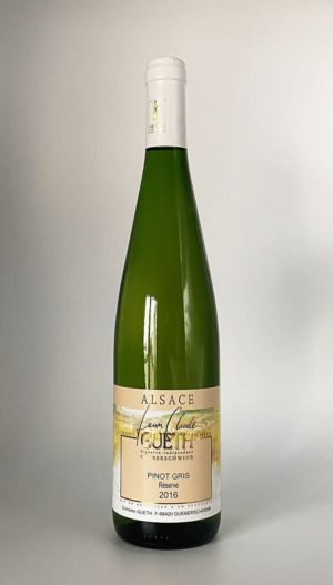 bouteille pinot gris reserve 2016 vin alsace domaine gueth gueberschwihr