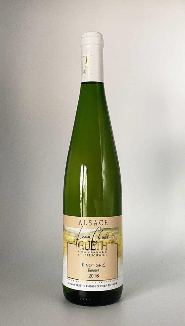 bottle pinot gris reserve 2016 alsace wine domaine gueth gueberschwihr