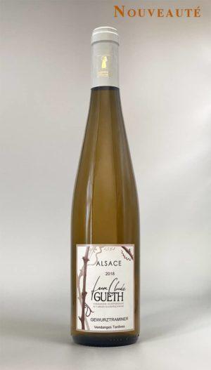 bouteille gewurztraminer vendanges tardives 2018 vin alsace domaine gueth gueberschwihr