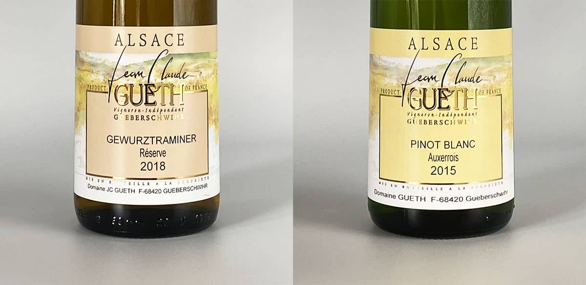etiquettes gamme tradition domaine gueth gueberschwihr