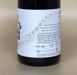 pinot noir terre natale 2018 contre etiquette 1 vin alsace domaine gueth
