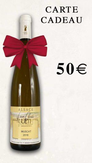 bon cadeau 50 euros domaine gueth