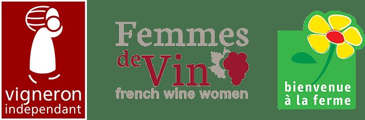 plusieurs logo vigneron independant - femme de vin - balf