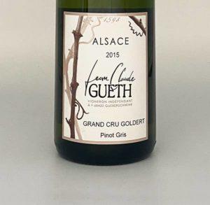 etiquette pinot gris grand cru goldert 2015 vin alsace domaine gueth gueberschwihr