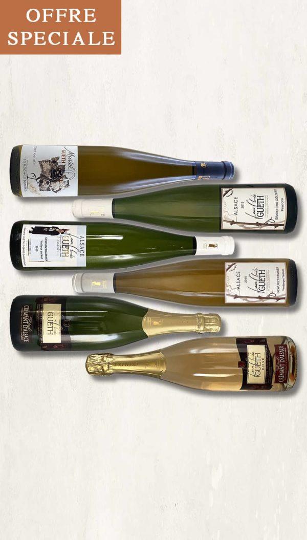 colis2021 selection 6 bouteilles aperitif vin alsace domaine gueth gueberschwihr