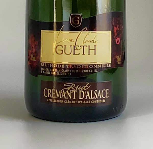 etiquette cremant brut blanc vin alsace domaine gueth gueberschwihr