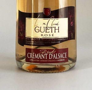 etiquette cremant brut rose vin alsace domaine gueth gueberschwihr