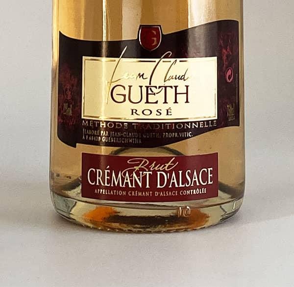 label cremant brut rose alsace wine domaine gueth gueberschwihr