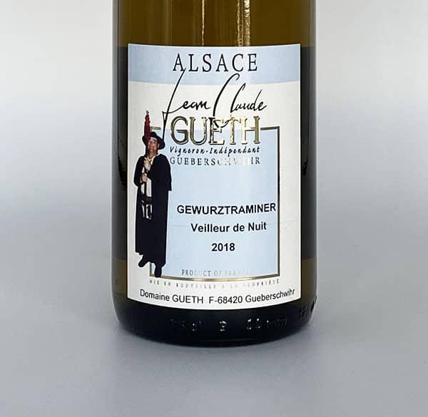 etiquette gewurztraminer veilleur de nuit manala 2018 vin alsace domaine gueth gueberschwihr