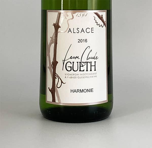 etiquette harmonie 2016 vin alsace domaine gueth gueberschwihr