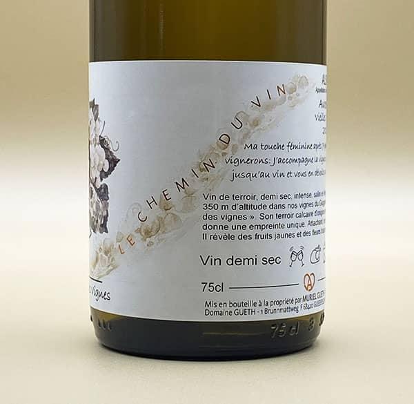 contre etiquette vue 2 auxerrois vieilles vignes 2017 vin alsace domaine gueth gueberschwihr