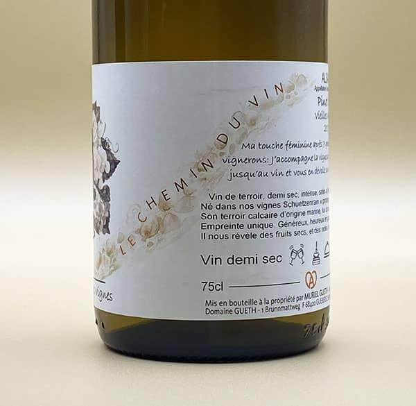 contre etiquette vue 2 pinot gris vieilles vignes 2017 vin alsace domaine gueth gueberschwihr