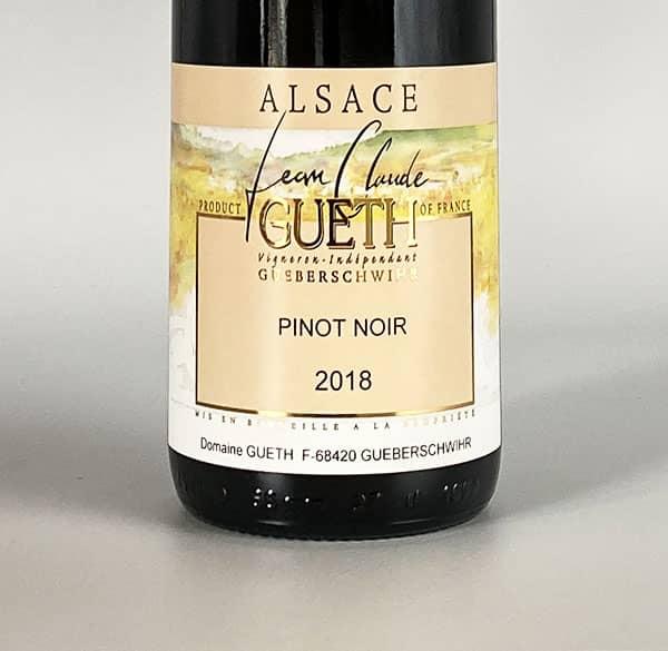 label pinot noir tradition 2018 wine alsace domaine gueth gueberschwihr