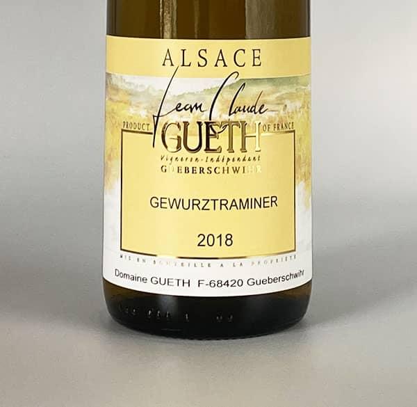 label gewurztranimer 2018 wein elsass domaine gueth gueberschwihr