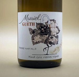 etiquette pinot gris vieilles vignes 2017 vin alsace domaine gueth gueberschwihr